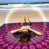 Rose et Violet indien Mandala Tapisserie, Suspendre Hippie mur double, Bohemian Boho Parure de lit, couverture de pique-nique, plage Gypsy ...