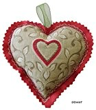 Sachet de lavande - Coeur rouge et feuilles