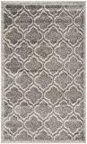 Safavieh AMT412C-3 La Salis Tapis d'intérieur/extérieur Matériel Synthétique/Polypropylène Gris/Gris clair 91 x 152 cm