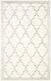 Safavieh AMT414E-5 La Pelosa Tapis d'intérieur/extérieur Matériel Synthétique/Polypropylène Ivoire/Gris clair 152 x 243 cm