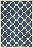 Safavieh CY6903-268-4 Samanna Tapis d'intérieur/extérieur Matériel Synthétique/Polypropylène Bleu marine/Beige 121 x 170 cm