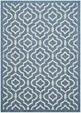 Safavieh CY6926-243-4 Mykonos Tapis d'intérieur/extérieur Matériel Synthétique/Polypropylène Bleu/Beige 121 x 170 cm
