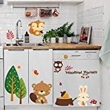 Saingace Belle Déco Maison Enfants Chambre Chambre Fond Autocollant Mural Stickers Muraux (63cm*30cm)