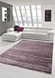 Salon Designer Tapis contemporain Tapis moquette avec Uni design Violet Größe 120x170 cm