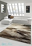Salon Designer Tapis contemporain Tapis moquette conception baroque Heather Brown Gris Taupe Größe 160x230 cm