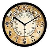 Salon style européen cartoon art silent clock et un retour aux cloches pastorales de chiffres romains/[horloge pastorale rétro chiffres romains]-B ...