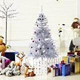Sapin artificiel arbre de Noël blanc 150cm avec décoration neuf 51