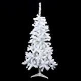 Sapin de Noël blanc Dawson H120 cm