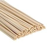 Satinior 100 Pièces Bâtons de Diffuseur Bâtons en Bois de Rotin Reed Sticks Huile Essentielle Diffuseurs de Rotin