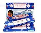 Satya Nag Champa Paquet de bâtonnets d'encens Super Hit, Lot de 3