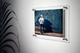 Scribble Cadre photo/diplôme mural en acrylique Transparent A4