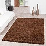 Shaggy Teppich Hochflor Langflor Teppiche Wohnzimmer Preishammer versch. Farben, Farbe:braun;Größe:120x170 cm