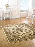 Sherborne - Tapis classique/tapis traditionnel - salle à manger/salon Beige (200 x 290cm)