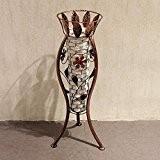ShiQi Fleurs artificielles Salon Faux Gazon Étude 3 pied Cadre métallique pour Vases Décoration Mariage Banquet Festival