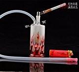 Shisha Narguilé Hookah Chicha Fumeur Pipe a Eau Cool Design Ranch rouge Flammes