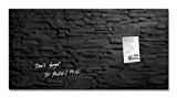 Sigel GL149 Tableau magnétique en verre Artverum artverum, 91 x 46 cm pierre de schiste, noir