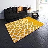 Simple personnalité de la mode moderne lignes jaunes tapis chambre à coucher table basse salon chambre à coucher coutume Jane ...