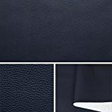 superbe tissu skai ou simili rigide col bleu carreaux  50x140 cm