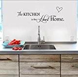 Skyllc® Premium Quality amovible toile de fond de la cuisine Stickers Muraux Décor PVC
