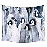 snoogg Animal Pingouin indien mur tapisserie Mandala décoratif mur tapisserie ou Résidence de plage Drap de pique-nique hippie mur tapisserie ...