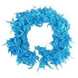 SODIAL(R) Boa de Plume Pelucheux Decoration Artisanale 6,6 Pieds de Long - Bleu