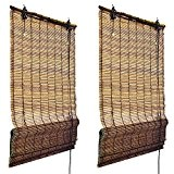 Sol Royal - Lot de 2 Stores Bateau à baguettes Bambou naturel - 100x160 cm - Tamisant - decoratif - ...