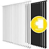 Sol Royal®- Store à lamelles verticales - Blackout - Opaque - coloris: Noir - dimensions: 120x250 cm - Largeur des ...