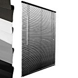 Sol Royal - Store venitien en aluminium - Noir - 90x220cm - Montage simple sans vis - Systeme de fixation ...