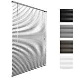 Sol Royal® Store venitien en aluminium SolDecor J32 - Argent 100 x 130 cm - Montage simple sans vis - ...