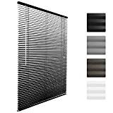 Sol Royal® Store venitien en aluminium SolDecor J32 - Noir 40 x 130 cm - Montage simple sans vis - ...