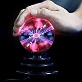SOLMORE 3inch(8CM) Boule Magique USB Prise Ballon Foudre Tactile Cristal Lampe Sphère Stérilisation Pureté Anion Ampoule Plasma Décoration Fête Noël ...