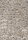 """Sona-Lux Tapis Shaggy gris argent """"Choisir la taille"""" 80 x 150 cm"""