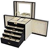Songmics Boîte à bijoux Coffret pour bijoux Pésentoirs 30 x 22 x 25 cm JBC217