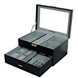 Songmics Boîte à bijoux coffrets pour bijoux Pésentoirs 29 x 20 x 15 cm JBC215