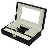 Songmics Boîte à bijoux coffrets pour bijoux Pésentoirs et miroir JBC216