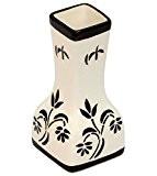 SouvNear 14,5 cm de haute taille Noir et Blanc Céramique Vase Fleurs - Peinte La Main Décoratif Pièce Maîtresse pour ...