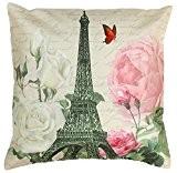 SouvNear La tour Eiffel Jeter les Taies Housses 45,7cm x 45,7cm Housse de Coussin avec Fermeture éclair Cachée - Décoratif ...