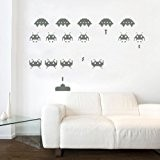 Space Invaders Vinyl Wall Sticker Art Retro Gaming Original Kids Room 60cm x 95cm by Kult Kanvas