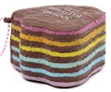 Squishy molle kawaii, cake en forme de patte de canard marron et arc-en-ciel
