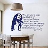 Sticker mural décoratif pour salon ou chambre Format medium Bob Marley