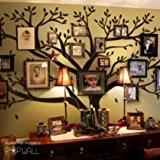 Sticker mural géant Arbre généalogique pour Cadres photos de famille DIY Autocollant mural en vinyle pour décoration de chambre de ...