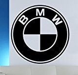 Sticker mural Logo BMW, Vinyle, noir, Large