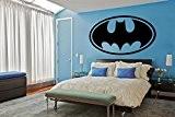 Sticker mural motif logo batman, Vinyle, noir, Medium