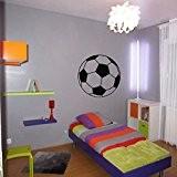 Stickers Ballon de foot - Noir, L 30cm x H 30cm