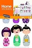 Stickers Mural enfants Poupées Kokeshi (LADYLEIA ) Nouvelles Images