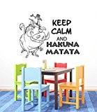 Stickers muraux Citations Hakuna Matata lettres Décor mots Sticker mural en vinyle Stickers muraux sticker mural pour enfants Chambre pour ...