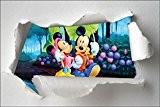 Stickersnews - Stickers enfant papier déchiré Minnie et Mickey réf 7610 Dimensions - 30x20cm