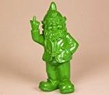 Stoobz PP 005li 15x 12x 32cm Cheeky Garden Gnome Figurine pour maison et jardin–vert citron