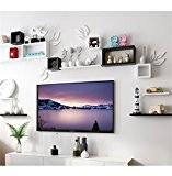 storage- mur Etagères racks étagères muraux créatifs mur en treillis TV toile de fond cadre décoratif étagère étagère murale salon ...