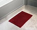 Store Indya, de Noël Carre 100% coton Tapis de bain de couleur rouge Lavable 22 x 26 '